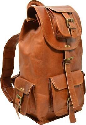Genuine Leather Back Pack new Rucksack Travel Bag For Men's and Women's Best