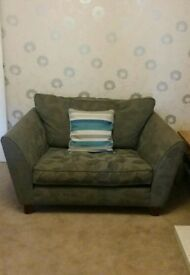 M&S grey snuggle chair / love seat