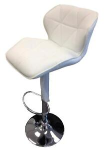 Faux Leather Bar Stool in Black (SK22)