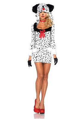 Dalmation Costumes Adults (Adult Sexy Dotty Dalmation 101 Puppy Dog Costume)