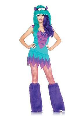 Sexy Rave Fuzzy Frankie Monster Costume Hood Halloween Costume Outfit - Fuzzy Monster Costume