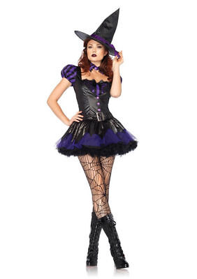 Sexy Spellcaster Witch Dress Outfit Adult Women's Halloween Party Costume - Halloween Witches Outfits