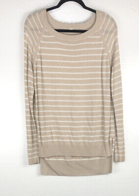 Lululemon Sweater Post Savasana Pullover Top Boolux Long Sleeve Striped Yoga
