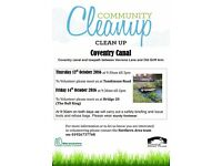 Canal Clean Up - Thursday 13th & Friday 14th October