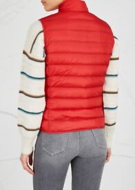 Stunning red moncler bodywarmer, brand new never worn, size 3.