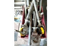 Boss scaffold tower wheels and adjusters.