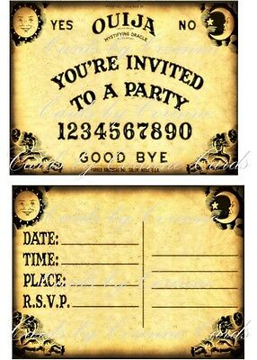 Halloween Party Invitations (8 Halloween Ouija party invitations with)