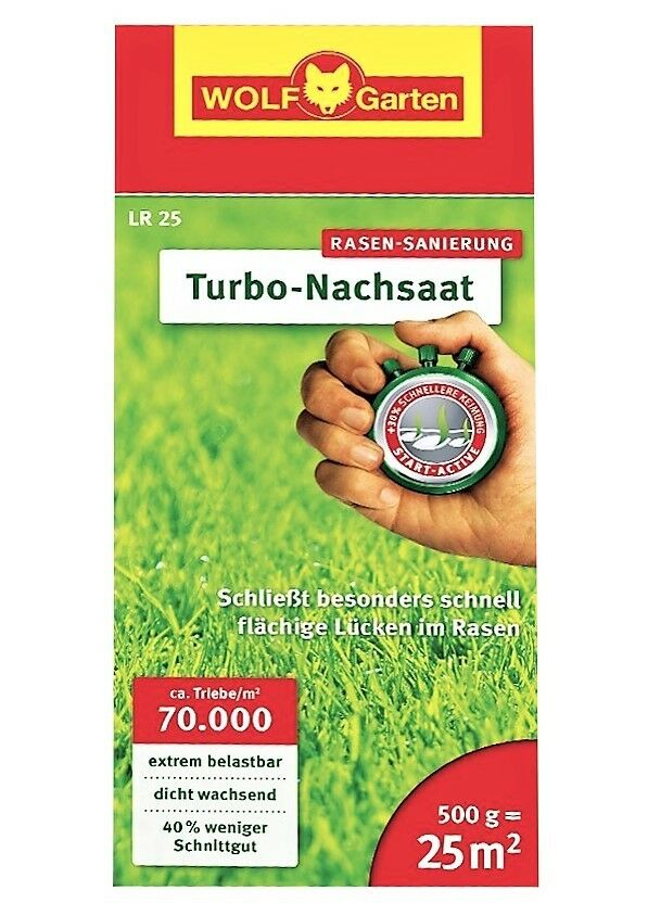 WOLF-Garten Turbo-Nachsaat LR 25 für bis zu 25 m², Rasensamen - NEU