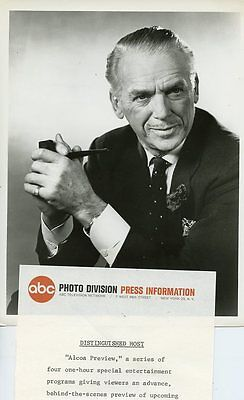 DOUGLAS FAIRBANKS JR SMILING PORTRAIT ALCOA PREVIEW ORIGINAL 1965 ABC TV PHOTO