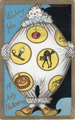 Rose Halloween Costume (HALLOWEEN POSTCARD, PUBLISHED BY ROSE Co., CLOWN COSTUME,)