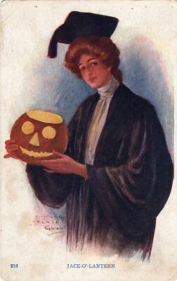 HALLOWEEN POSTCARD, PUBLISHED BY NATIONAL ART COMPANY, SIGNED ARCHIE GUNN, - Publisher Halloween Party