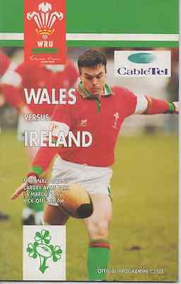 1995-WALES V IRELAND-FIVE NATIONS-RUGBY UNION PROGRAMME