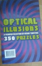 Optical illusions a fiendish selection of visual twisters 350 puzzles book
