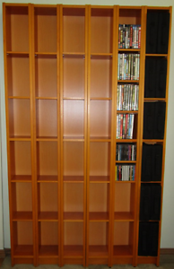 IKEA Benno (Gnedby) DVD/CD Bookcase Storage Shelves – 6 units Barden Ridge Sutherland Area Preview