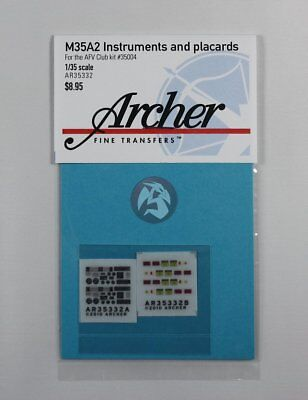 Archer 1/35 M35A2 Cargo Truck Instruments & Placards (AFV Club #35004) AR35332 for sale  Sterling