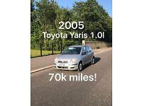£850 2005 Toyota Yaris 1.0l like Corsa Clio Micra Fiesta polo punto getz c1 aygo 107