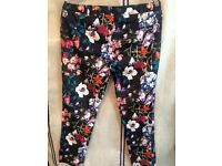 •Size 14 floral art trousers•