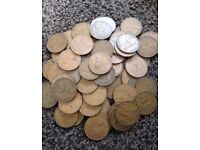 Random Selection Of 10 x Old Pennies