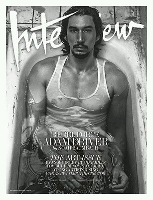 Interview Magazine December 2016 with Adam Driver The Art Issue