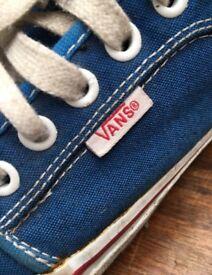 Blue Vans Trainers Shoes Size 6