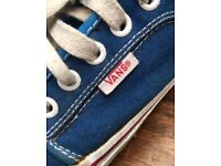 Blue Vans Trainers Shoes Size 6