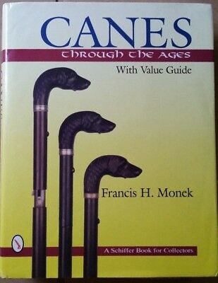 Walking stick Cane Value Guide Collector's Book Francis Monck