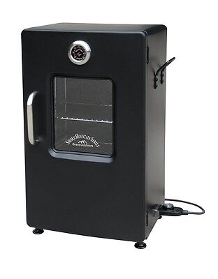 Electric Smoker Grill BBQ Box Smokers Thermometer Stand Outdoor Portable Patio
