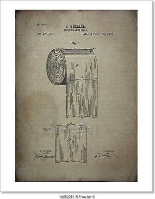 Toilet Paper Roll Patent 1891 Art Print Home Decor Wall Art Poster