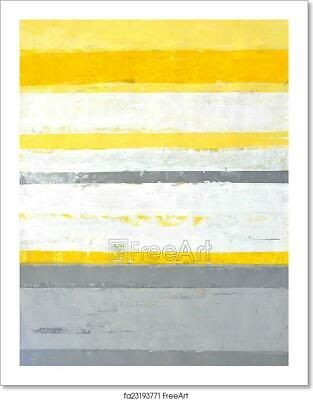 Grey And Yellow Abstract Art/Canvas Print. Poster, Wall Art, Home Decor