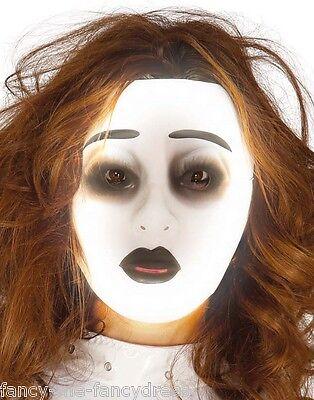 Herren Damen Weiß Leuchten Im Dunklen Anonymous Halloween Maske Kostüm