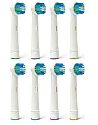 8 Pcs Electric Toothbrush Replacement Heads Compatible With Oral B Braun