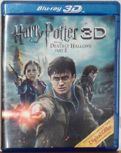 NEW 3D HARRY POTTER & THE DEATHLY HALLOWS PART 2  (3D Blu-ray 2-Disc Set)