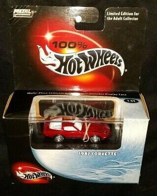 2000 Hot Wheels 100% 1982 Chevrolet Corvette Red Real Riders VHTF
