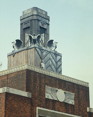 Detail of top of Ellis Island Ferry Building New York Harbor Photo - Ellis Island New York Harbor