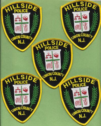 LOT OF 5 POLICE PATCH LOT OF HILLSIDE NEW JERSEY NJ POLICE DEPT HPD PD (FIRE)
