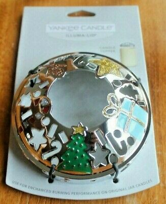 2020 Yankee Candle MODERN ART DECO Illuma Lid ~~Colorful~~Gingerbreadman, Star +