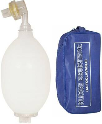 Ambu Cpr Bag Valve Mask Manual Resuscitator Adult First Aid Silicon Autoclavable
