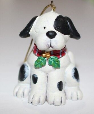 RUSS Berrie Wags To Whiskers Handpainted Christmas Ornament Dalmation Dog  RARE