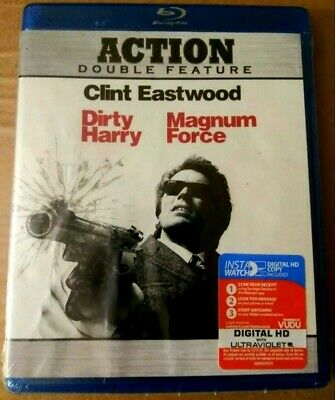 Clint Eastwood Double Feature Dirty Harry & Magnum Force (Blu-Ray)  New Sealed