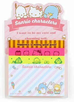 Sanrio Characters Memo Pad 4 Designs Japanese Kawaii Stationery
