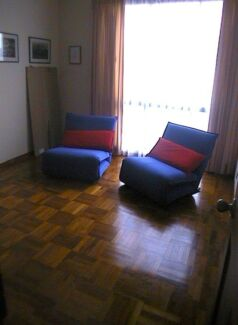2 Designer single chair/ beds