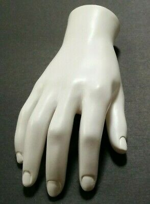 Mn-handsm-wf White Right Male Mannequin Hand Jewelry Display White Only