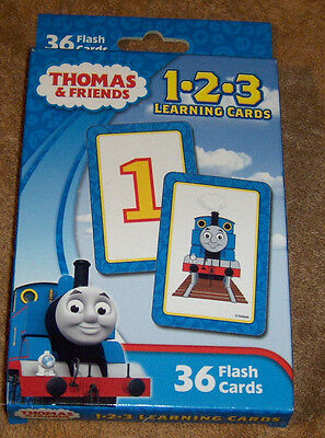 Thomas and Friends 1-2-3 Learning Cards Counting Numbers New Free Shipping