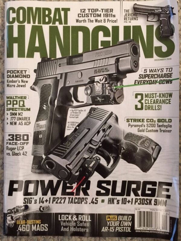 Combat Handguns Power Surge Must Know Drills December 2015 FREE SHIPPING