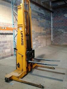 LIFT RITE 2 STAGE 14 FOOT HEIGHT PALLET LIFTER - 2000 LB CAPACITY - Less expensive to run than a fork lift !