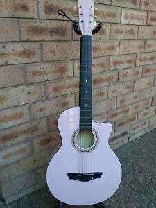 """Brand New Colored Steel String Acoustic Wooden 38"""" Guitar +Capo Macquarie Park Ryde Area Preview"""