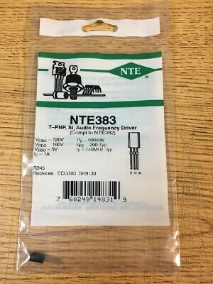 Nte383 T-pnp Si Audio Frequency Driver
