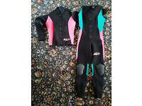"""Ladies SOLA Wetsuit, 3mm, Size ML, 5'4"""" - 5'6"""", size 10-12, zip ankles & knee pads"""