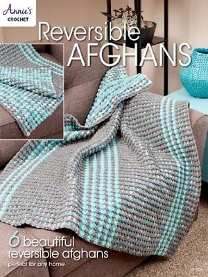 Crochet Pattern Book REVERSIBLE AFGHANS ~ 6 Designs