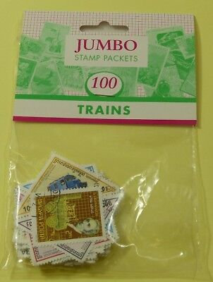 Thematic stamp packet: 100 Trains on stamps